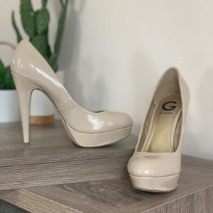 Nude platforms from G by Guess